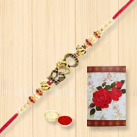 Impressive Present of Bro Rakhi for Loving Brother