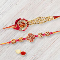 Marvelous Dual Rakhi Set