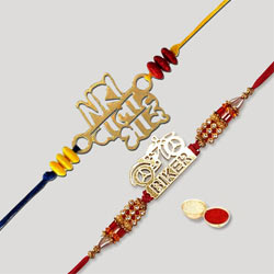 Fancy Double Rakhi Set