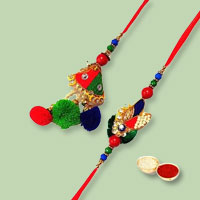 Wonderful Bhaiya Bhabhi Rakhi Set