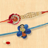 Set of Designer Rakhi N Kids Rakhi