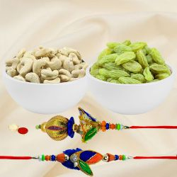 Designer Bhaiya Bhabhi Rakhi with Dry Fruits