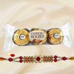 Exclusive Fancy Rakhi with Ferreo Rocher