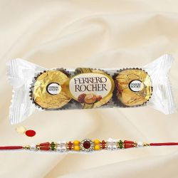 Wonderful Designer Rakhi with Ferrero Rocher