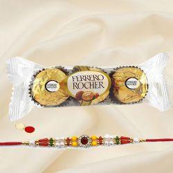 Wonderful Designer Rakhi with Ferrero Rocher