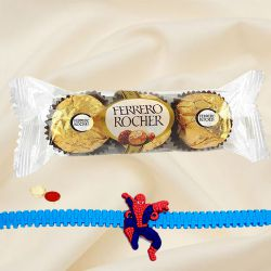 Exciting Ben 10 Kids Rakhi with Ferrero Rocher
