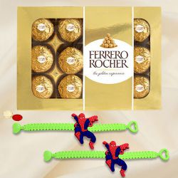 Wonderful Spiderman Rakhi with Ferrero Rocher