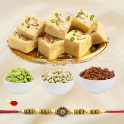 Haldirams Soan Papdi with Dry Fruits N Ethnic Rakhi