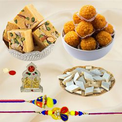 Exclusive Bhaiya Bhabhi Rakhi N Assortments Combo