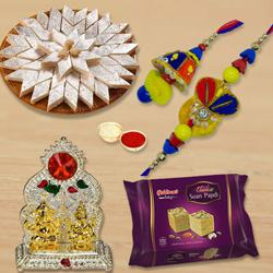 Remarkable Bhaiya Bhabhi Set Rakhi with Assortments Combo