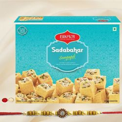 Bikaji Soan Papdi with Fancy Rakhi