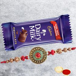 Cadbury Milk Chocolates with Fancy Rakhi