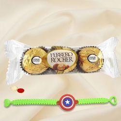 Ferrero Rocher with Kids Rakhi