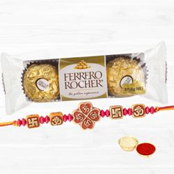Ferrero Rocher with Designer Fancy Rakhi