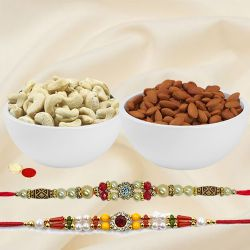 Assorted Dry Fruits with Twin Rakhi