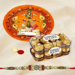 Ferrero Rocher with Rakhi Thali