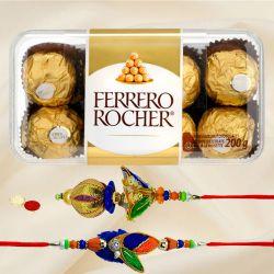 Bhaiya Bhabhi Rakhi with Ferrero Rocher Chocolates
