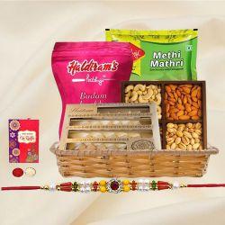 Delightful Basket of Rakhi Treat