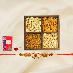 Ethnic Rakhi with Mixed Dry Fruits