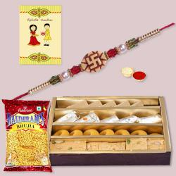 Ethnic Rakhi with Assorted Sweets n Haldirams Bhujia