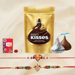 Ethnic Bhai Rakhi n Kids Rakhi with Hershey Chocolate