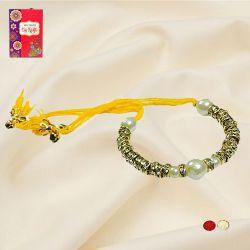 Elegant Braclet Rakhi with Roli, Chawal N Card