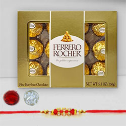 Ferrero Rocher Chocolates with Lovely Rakhi