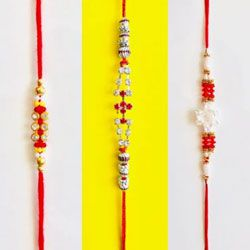 Three Designer Rakhi Set
