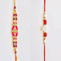Eye-Catching Set of 2 Fancy Rakhi
