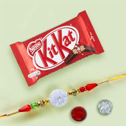 Fancy Rakhi with KitKat Choco Bar