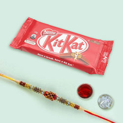 Impressive Rakhi with Kit Kat