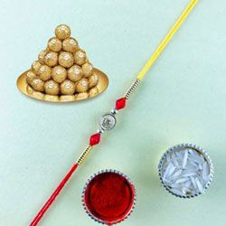 Classic Raksha Bandhan Gift of Fancy Rakhi with Ferrero Rocher