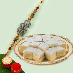 Beautiful Bro Rakhi with Kaju Katli