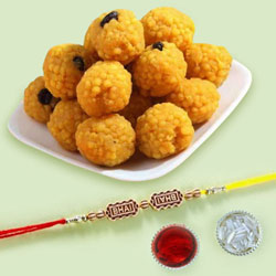 Delicious Boondi Ladoo with Bhai Rakhi