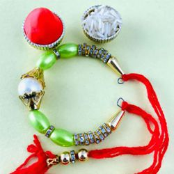 Fabulous Beaded Bracelet Rakhi