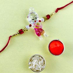 Dazzling Gift of Bal Krishna Rakhi for Kids