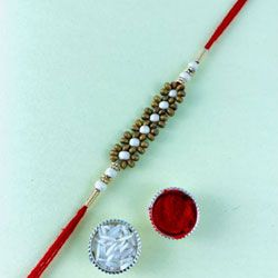 Delightful Gift of Fancy Stone Rakhi