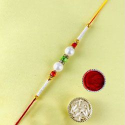 Beautiful Present of Pearl Rakhi