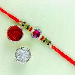 Elegant Present of Jewelled Rakhi