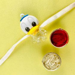 Eye-Catching Duckling Rakhi for Kids