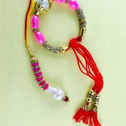 Decorative Bhaiya Bhabhi Rakhi Set