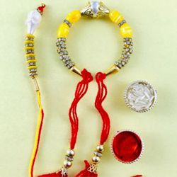 Stylish Rakhi Lumba Set