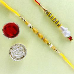 Beaded Bhaiya Bhabhi Rakhi Set