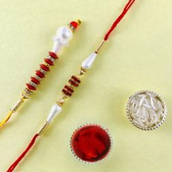 Fashionable Rakhi Lumba Set for Bhaiya Bhabhi