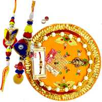 Thali with bhaiya-bhabhi pair
