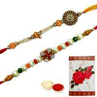 Auspicious Collection of 2 Rakhi Set