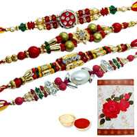 Divine Collection of 4 Rakhi