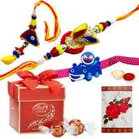 2 designer ethnic & 1 kids with 2pc Lindt Chocolate