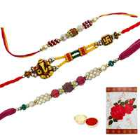 3 Auspicious Rakhi<br><font color=#0000FF>Free Delivery in USA</font>