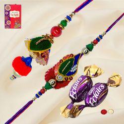 Ravishing Bhaiya Bhabhi Rakhi with 2 Chocolates